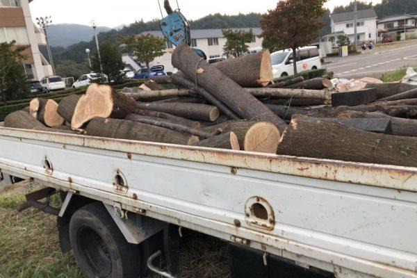 原木回収へ‼️前橋宮城